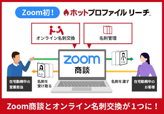 オンライン名刺交換とZoom商談機能が一体になった「ホットプロファイル リーチ」